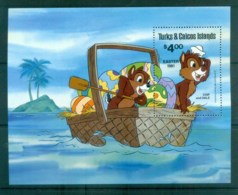 Turks & Caicos Is 1981 Disney, Easter, Chip & Dale MS MUH Lot77497 - Turks And Caicos
