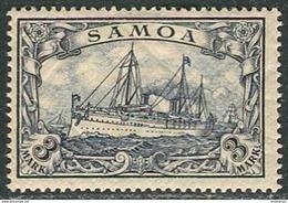 "Samoa 1900 Michel #18 VF/MH. Kaiser Yacht ""Hohenzollern"". (Ts10) - Colony: Samoa"