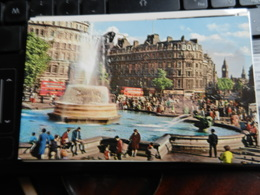 19807) LONDON TRAFALGAR SQUARE BIG BEN VIAGGIATA - Trafalgar Square