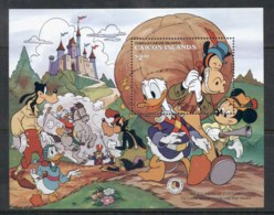 Turks & Caicos Is 1985 Disney, Tom Sawyer Soldiers Of Fortune MS MUH - Turks And Caicos