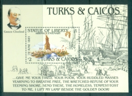 Turks & Caicos Is 1985 Statue Of Liberty Centenary MS MUH - Turks And Caicos