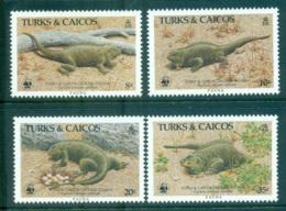 Turks & Caicos Is 1986 WWF Rock Iguana MUH Lot64113 - Turks E Caicos