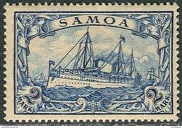 "Samoa 1900 Michel #17 VF/MH. Kaiser Yacht ""Hohenzollern"". (Ts10) - Colony: Samoa"