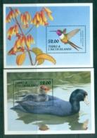 Turks & Caicos Is 1990 Birds 2xMS MUH - Turks And Caicos