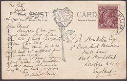 LEURA NSW RP POSTCARD - ENGLAND KGV 1.1/2d RATE 1921 - Briefe U. Dokumente