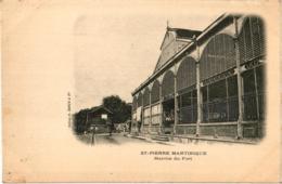 SAINT PIERRE MARTINIQUE ,MARCHE DU FORT JOLI PLAN !!   REF 57839 C - Martinique