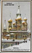 Chromo & Image - Chromo. Tour Doré - Chocolat Guérin-Boutron - Moscou - L'Eglise St-Vassili - En B. état - Guérin-Boutron