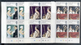 Turks & Caicos Is Is 1977 QEII Silver Jubilee Blk4 MUH - Turks And Caicos