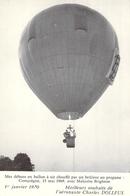 Carte De Voeux Ancienne 1970 De L'aéronaute Charles Dolfus Motglofière Ballon Aéronautisme - Visiting Cards