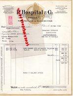 63 - THIERS - FACTURE P. HOSPITAL & CO- 21 RUE DOCTEUR AUGUSTE DUMAS-MANUFACTURE RASOIRS FINS- RASOIR- LE GRELOT- 1936 - France