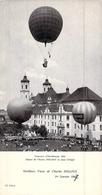 Carte De Voeux Ancienne  De L'aéronaute Charles Dollfus Motglofière Ballon Aéronautisme - Cartoncini Da Visita