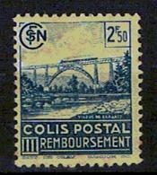 N° 179* Colis Postal 2f50 Bleu ( III Remboursement) - Colis Postaux