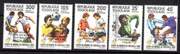 Serie Nº 1074/5 + A-473/5 Togo - 1982 – Espagne