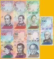 Venezuela Set 2 5 10 20 50 100 200 P-new 2018 UNC - Venezuela