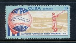 Caribbean Is 1971 Baseball MUH - Cuba