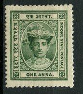 Indore 1907 1A Maharaja Tukoji Rao Ill Issue #10 - Holkar