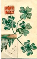 TREFFLES A 4 FEUILLES + CHATEAU.    TIMBRES DECOUPES - Stamps (pictures)