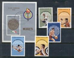 Caribbean Is 1975 Pan American Games + MS CTO - Cuba