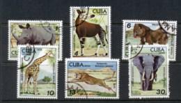 Caribbean Is 1978 Zoo Animals, Elephant, Rhino CTO - Cuba