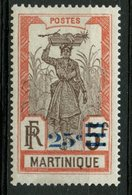 Martinique 1924 25c Girl Carrying Pineapple Issue #122 - Martinique (1886-1947)