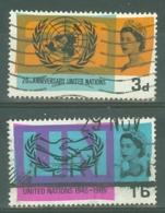 G.B.: 1965   20th Anniv Of U.N.O. And I.C.Y.    Used - 1952-.... (Elizabeth II)