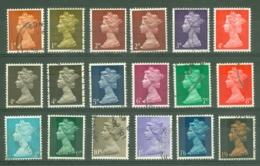 G.B.: 1967-70   QE II Definitive Set  SG723-744    Used - 1952-.... (Elizabeth II)
