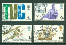 G.B.: 1968   British Anniversaries     Used - 1952-.... (Elizabeth II)