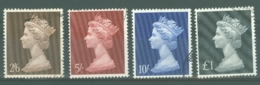 G.B.: 1969   QE II Definitive High Values Set  SG787-790    Used - 1952-.... (Elizabeth II)