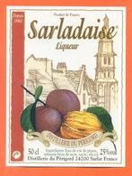 étiquette Liqueur Prune Et Noix Sarladaise Distillerie Du Périgord à Sarlat - 50 Cl - Sonstige