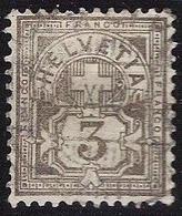 Schweiz Suisse 1906: Ziffer Mit WZ I (+) Zu 81 Mi 83 Yv 101 3c Braungrau Mit Unlesbarem Zentral-o .IX.07 (Zu CHF 100.00) - 1882-1906 Wappen, Stehende Helvetia & UPU
