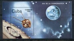 Caribbean Is 1984 Cosmonauts Day, Space Satellites MS MUH - Cuba