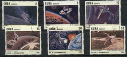 Caribbean Is 1985 Cosmonauts Day, Space Satellites CTO - Cuba