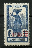 Martinique 1924 1.25f Girl Carrying Pineapple Issue #124 - Martinique (1886-1947)