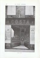 1909 - Iconographie - Paris (8ème) - Le Bottier Costa Au 277 Rue Saint-Honoré - FRANCO DE PORT - Vieux Papiers