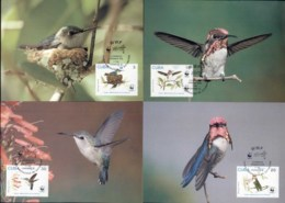 Caribbean Is 1992 WWF Bee Hummingbird Maxicards - Cuba