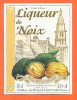 étiquette Liqueur De Noix Distillerie Du Périgord à Sarlat - 50 Cl - Sonstige