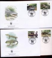 Caribbean Is 2003 WWF Crocodiles 4xFDC - Cuba