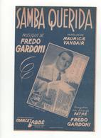 Partition Samba Querida Frédo Gardoni - Scores & Partitions