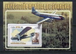 Caribbean Is 2010 Airplanes, Shanghai Expo MS MUH - Cuba