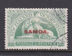 Samoa SG 143 1920 New Zealand Stamp Victory Overprinted,half Penny,used - Samoa