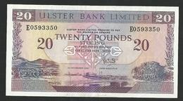 NORTHERN IRELAND 20 POUNDS 1990 PICK # 333 XF+ - Irlande Du Nord