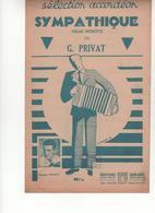 Partition Sympathique Valse Musette De G. Privat - Scores & Partitions