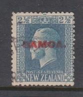 Samoa SG 139 1916-19 New Zealand Stamp King George V Overprinted,two And Half Pence Blue,used - Samoa