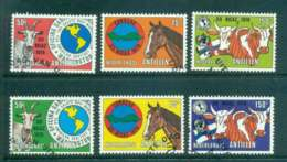 Netherlands Antilles 1979 Foot & Mouth, Both Cols. FU Lot47100 - West Indies