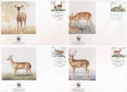 Netherlands Antilles 1992 WWF White-tailed Deer FDC - West Indies