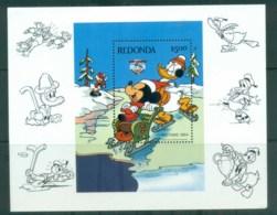 Redonda 1984 Disney, Xmas, Sledding MS MUH Lot79046 - West Indies