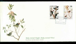Redonda 1985 Audubon Birds,  Franlkin Mint FDC Lot79669 - West Indies