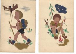 PADVINDERIJ, SCOUTISME, SCOUTS, 4 Verschillende Postkaarten, IN NIEUWE STAAT - Scouting