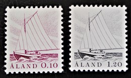 ALAND - BATEAU DE PECHE 1985 - NEUFS ** - YT 8/9 - MI 8y/9y - Finland