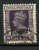 Chamba 1947 1 1/2as King George VI Issue #O61 - Chamba